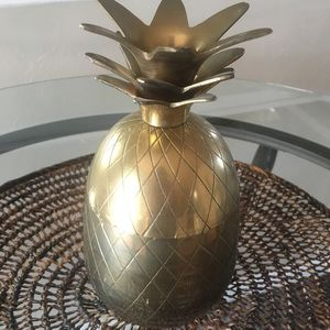 Other - Vintage Brass Pineapple